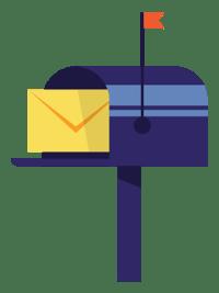 vector old school mailbox