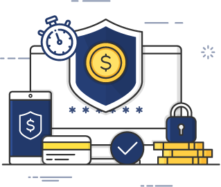 vector image of money and security