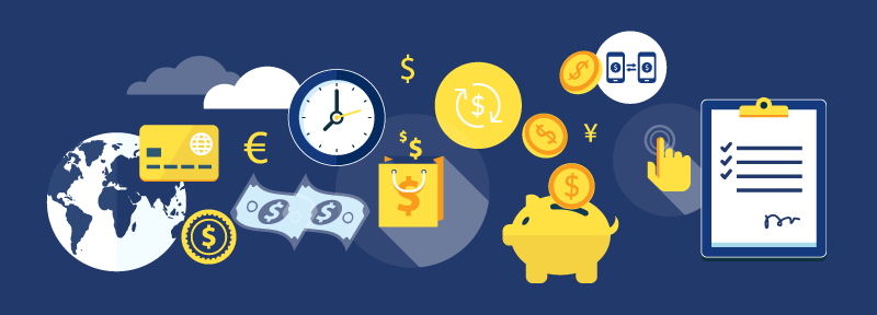 vector image of money and time